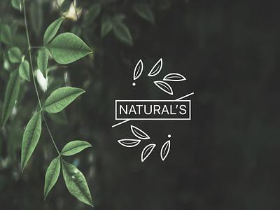 NATURALS LOGO flat logo design lettering illustration typography lettering minimal logo design branding