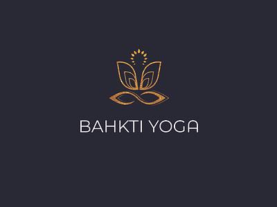 yoga LOGO icon logo design lettering flat vector typography lettering minimal logo design branding