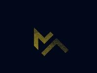 MA monogram logo vector logo design lettering typography lettering minimal logo design branding