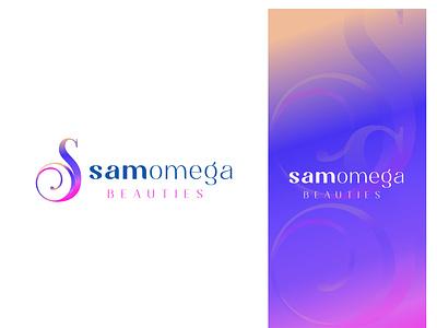 SAMOMEGA modern logo gradient colorful logo modern logo typography icon logo design lettering minimal design logo branding