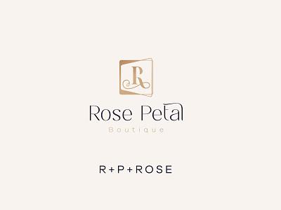 rose petal logo luxury brand icon beauty logo lettering typography logo design lettering minimal design logo branding