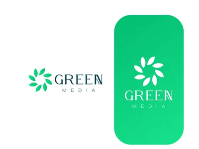 green media logo beauty logo flat lettering typography minimal logo design lettering icon logo design branding