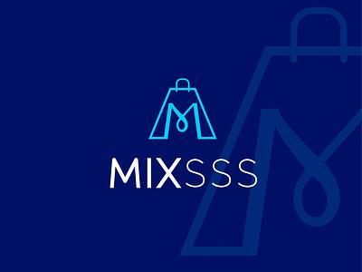 mixsss logo modern logo typography flat icon minimal design logo branding