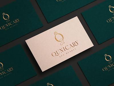 qunicary logo luxury brand beauty logo lettering typography logo design lettering icon minimal design logo branding
