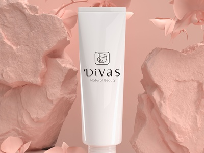 divas beauty product logo luxury brand typography beauty logo lettering logo design lettering icon minimal design logo branding