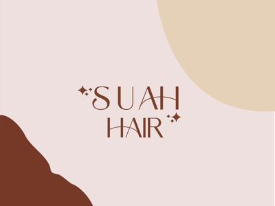 suah hair clean flat beauty logo luxury brand logo design lettering typography design minimal logo branding