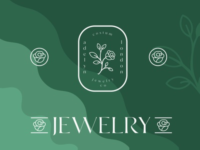 JEWELRY COSMETIC LOGO botanical logo botanical flat luxury brand icon typography beauty logo design minimal logo branding
