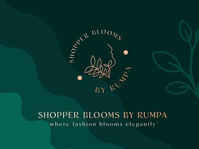 shopper blooms logo flat luxury brand lettering beauty logo logo design lettering typography icon design minimal logo branding