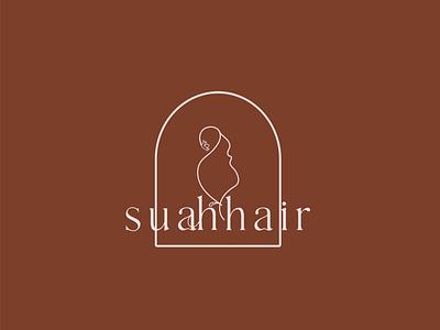 suahhair logo feminine logo hair brand logo lettering luxury brand beauty logo logo design lettering typography icon design minimal logo branding
