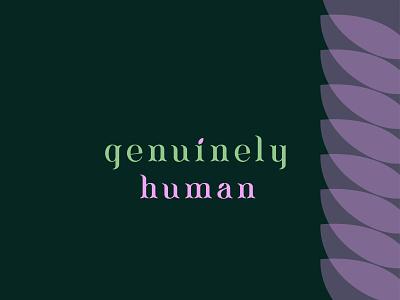 genuinely human logo logo design lettering typography icon design minimal logo branding