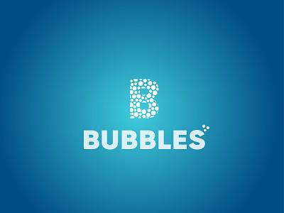 BUBBLES LOGO illustration vector logo design lettering typography icon design minimal logo branding