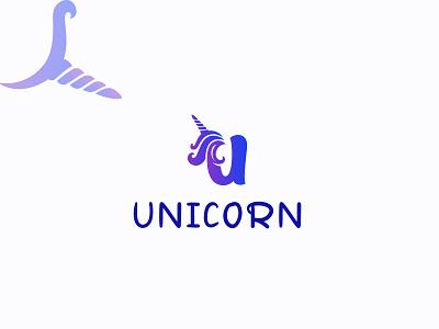unicorn logo modern logo colorful logo unicorn logo clean logo design lettering typography icon design minimal logo branding