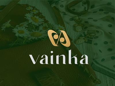 Vainka fashion brand logo clothingbrand fashion brand luxury brand clean logo designer graphic design logo design lettering typography icon design minimal logo branding