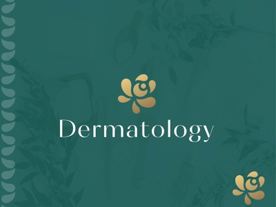 Dermatology LOGO flower logo clean spa logo cosmetic brand logo luxury logo illustration logo design lettering typography icon design minimal logo branding