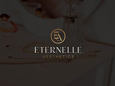 ETERNELLE  AESTHETICS  LOGO logo designer clothing line clothing brand luxury clean illustration logo design lettering typography icon design minimal logo branding