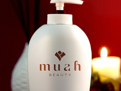 MUAH BEAUTY logo graphic designer logo designer graphic design simple logo nature logo cosmetic brand logo clean luxury logo design lettering typography icon design minimal logo branding