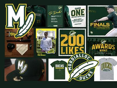 Mordialloc Ducks Logos, Social, Merch Design melbourne merch design social media design logo design sport design baseball