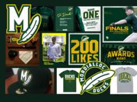 Mordialloc Ducks Logos, Social, Merch Design