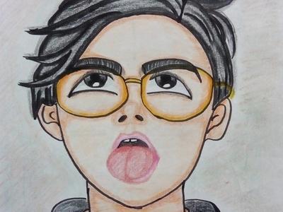 David handmade crayons hand drawn illustrator crayon art illustration animation