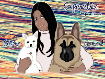 Emperatriz, Cooper y General design minimal handmade hand drawn crayon crayons illustrator art illustration animation