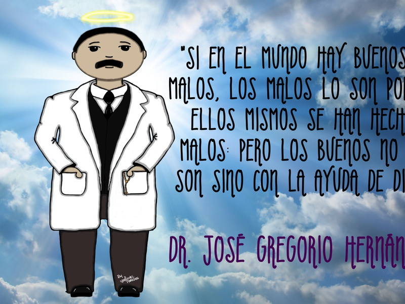 Dr Jose Gregorio Hernandez design minimal handmade crayon hand drawn crayons illustrator art illustration animation