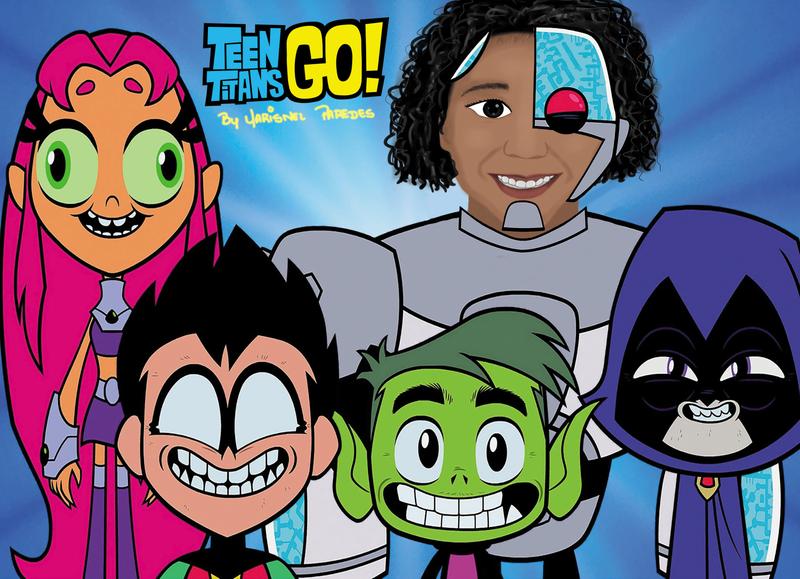 Teen Titans design clip studio paint photoshop handmade hand drawn crayons illustrator illustration art animation