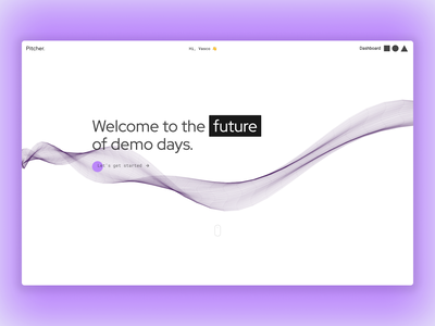 Pitcher design frontend development ux ui demo fullstack javascript web app ruby on rails development uidesign ui pitcher