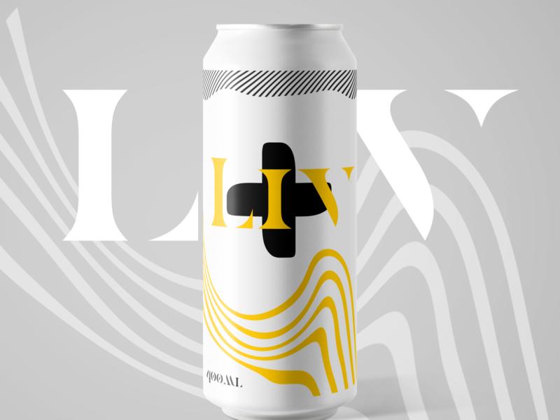 liv+ can design luxury logo packaging can minimal letter logo logotype logo design logodesign logo branding design