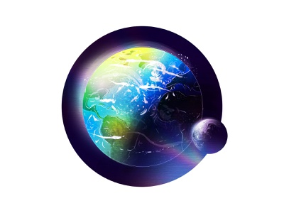 Earth Sticker space earth planet texture retro space moon holographic sticker earth blue marble blue vector illustration