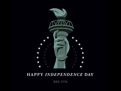 Independence Day usa holiday united states of america american icons illustration liberty america 1776 stars statue of liberty usa 4th of july independence day
