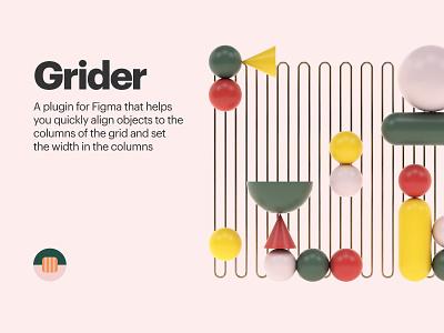 Grider. Plugin for Figma art 3d cinema4d illustration figma plugin