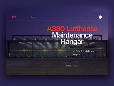 gmp architekten architect project typography concept ui site minimal design website web clean
