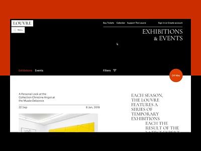 The Louvre buy tickets museum promo ux typography principle animation artist art concept ui site minimal design website web clean