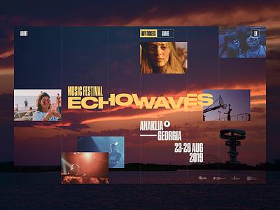 Echowaves promo typography concept ui site minimal design website web clean