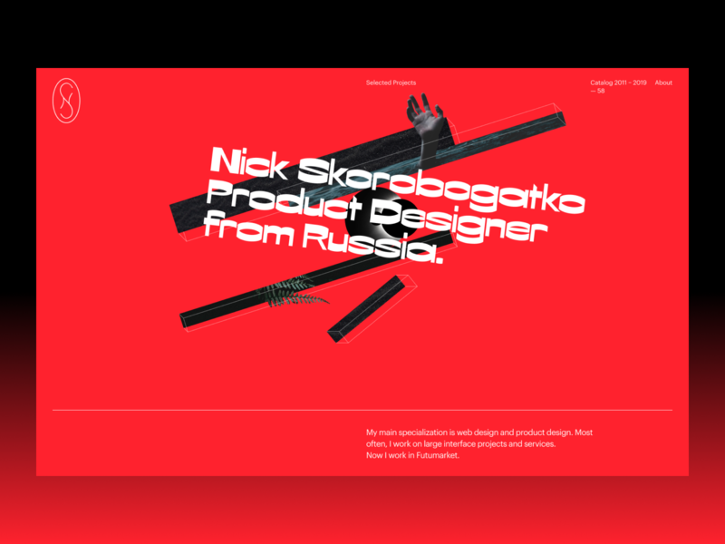 Portfolio illustration typography concept ui site design website web