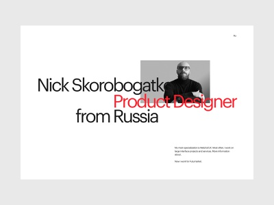 Portfolio. First screen typography concept site ui minimal website design clean web