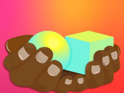 manosDePakal animation vector illustration flat