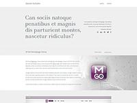 New Portfolio Design - WIP - Opinions?