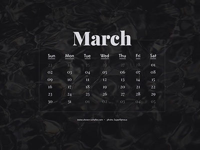 Wallpaper Project: March
