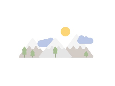 Nature illustration flat landscape muted simple minimal
