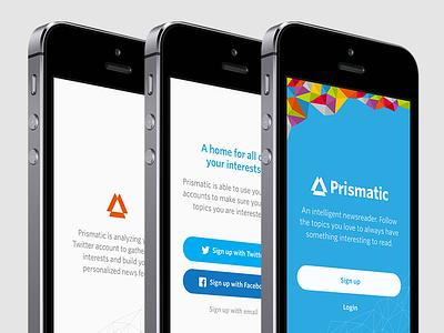 Prismatic Splash Test prismatic ios flat clean app minimal ui whitney branding