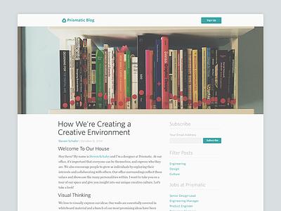 Prismatic Blog Redesign prismatic blog web flat clean minimal typography baseline grid long format reader