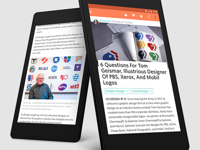 Prismatic for Android - Tablet Full Article View android prismatic tablet reader flat graphic layout grid clean