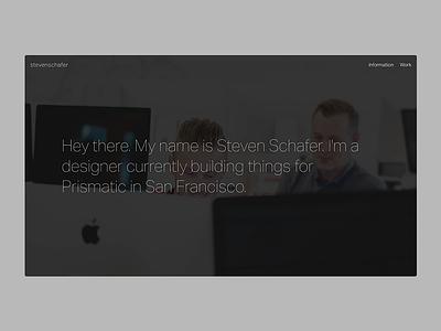 MVP - Minimum Viable Portfolio - 2015 portfolio site ui ux product design minimal clean layout