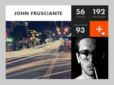 Instawidget rebound dark add instagram futura grid gray photo john orange frusciante flat froosh