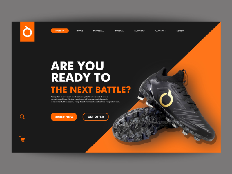 Shoes Store football shoes store website uidesign ui