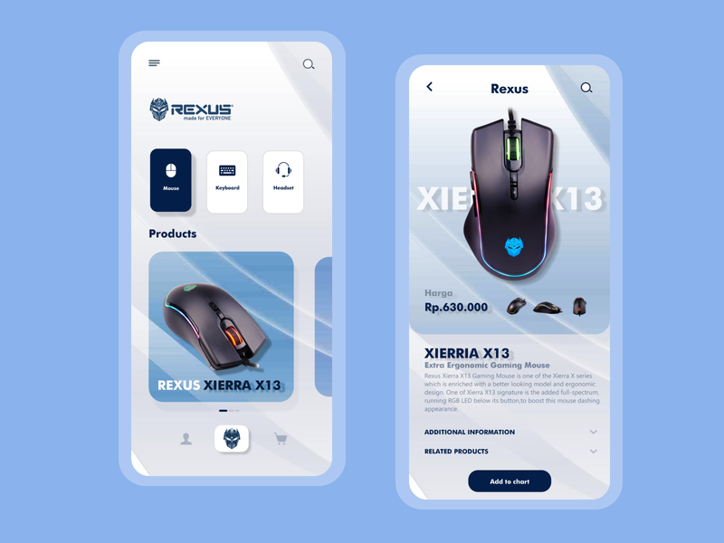 Mouse Gaming Store - Rexus gaming mousegaming mouse mobile ui mobile app design uidesign