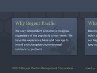 Regent Pacific Footer