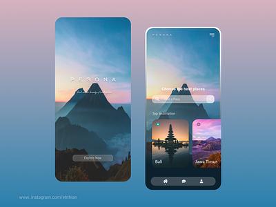 Pesona UI App bali design mobile ui ui uiux indonesia traveling travel app explore