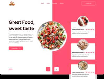CookOff Restaurant web minimal ux ui design